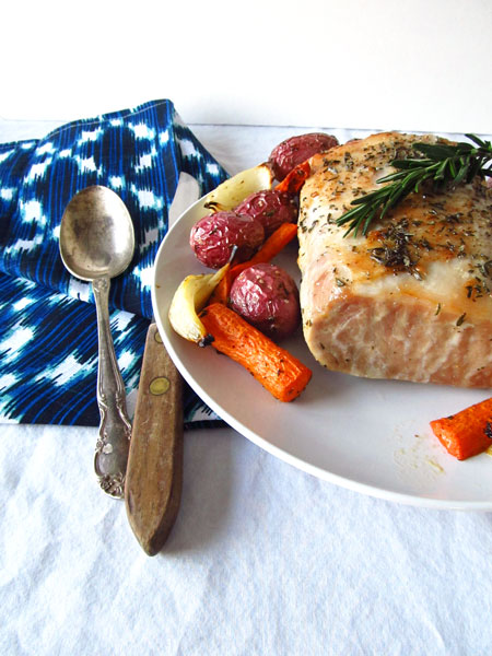 Rosemary Roasted Pork Loin with Potatoes and Carrots
