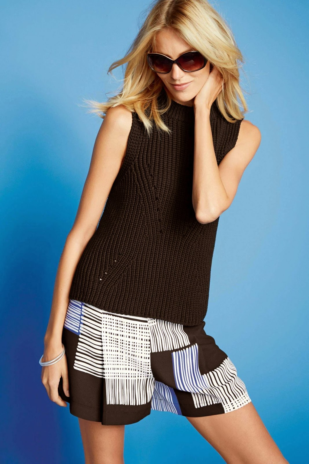 Anja Rubik poses for the Next Spring/Summer 2015 Lookbook