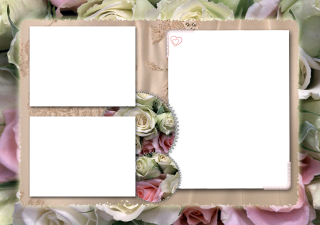 Picture Frame Collage Flower Wedding