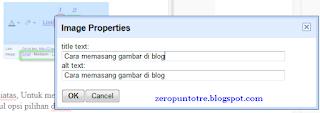 memasukkan deskripsi gambar properties blog