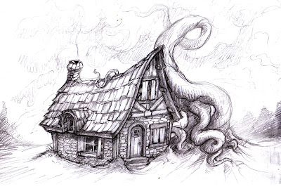 Cottage House Drawing