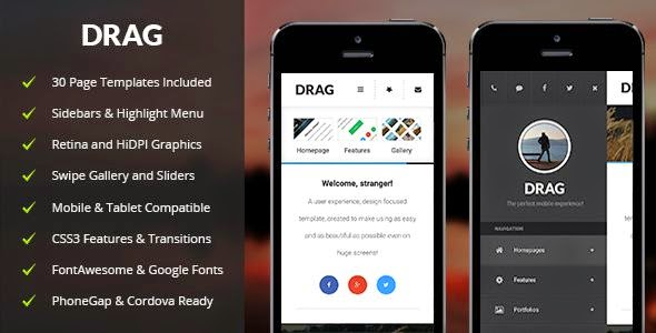 Drag - Mobile & Tablet Responsive Template