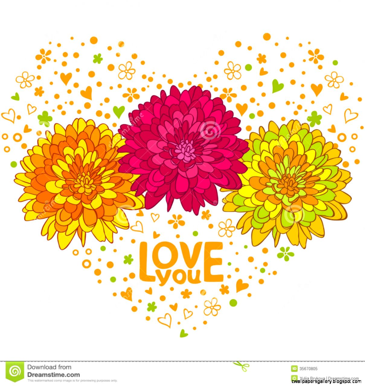 Flowers Hearts Royalty Free Stock Photo   Image 35670805