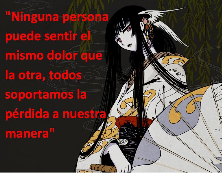 Frases con fotos del anime. Holic