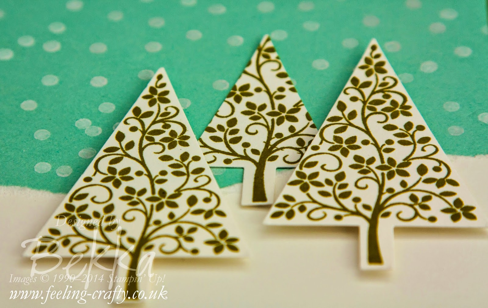 A couple of fun things you can do with the Festival of Trees Stamp Set - check them out here