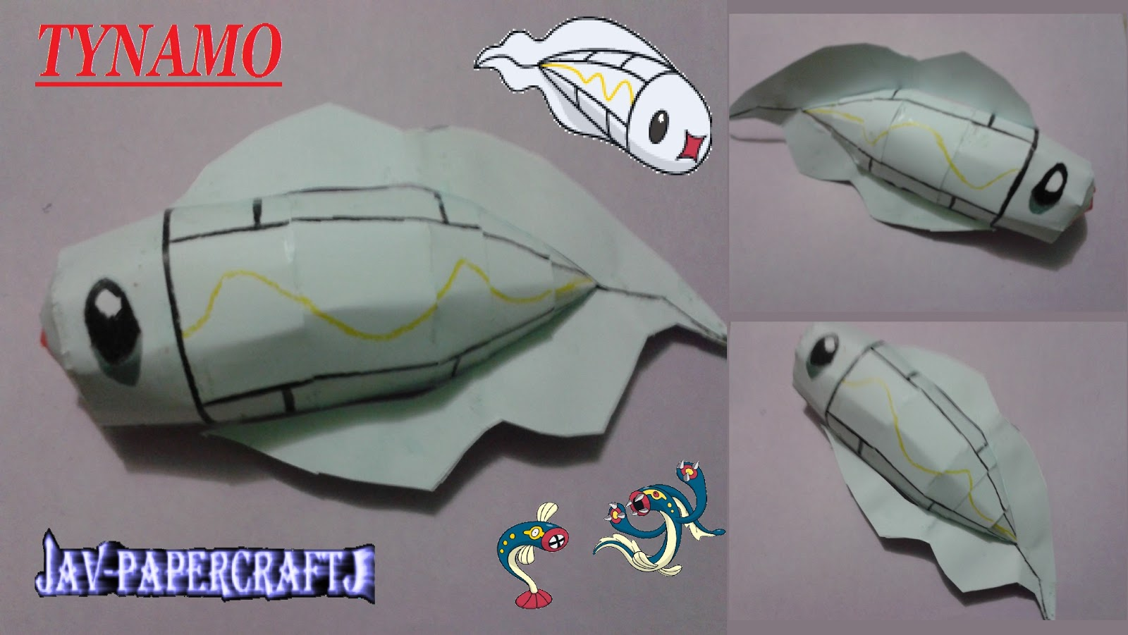 Pokemon Tynamo Papercraft
