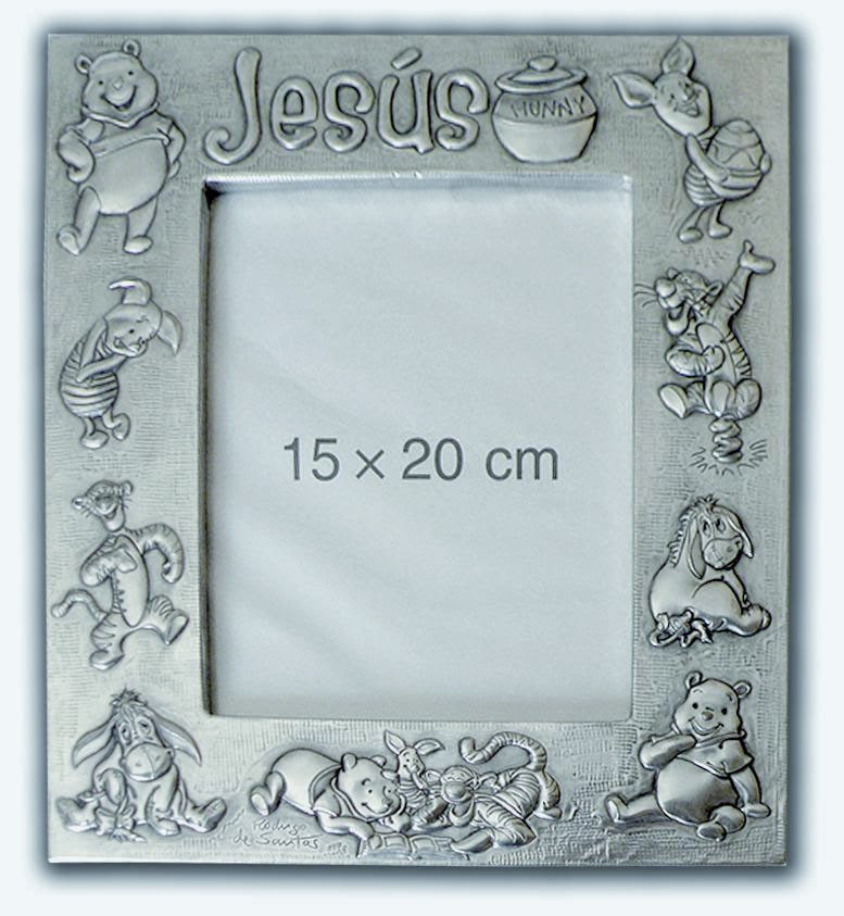 Marco infantil Winnie the Pooh. Jesús. | ArteyMetal
