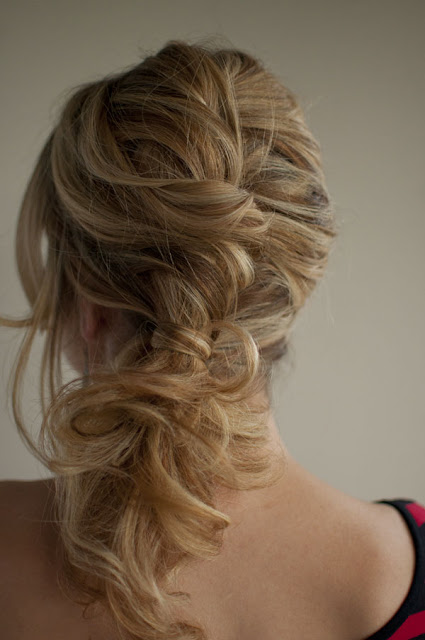 Simple Gather Sections And Twist Them Into A Side Ponytail