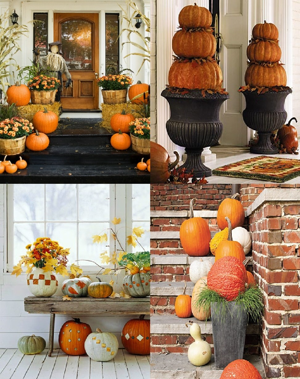 Outdoor decor for fall decorating ideas Fall outdoor decorating with pumpkins