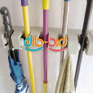 3/5Position Wall Mount Kitchen Tool Hook Organizer Holder Storage Rack Mop Broom