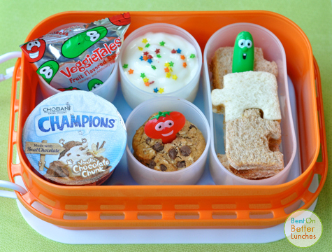 ♫ Veggie Tales! ♪ bento school lunch in yubo lunchbox