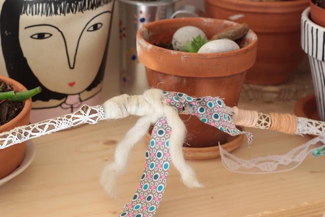 yarn bombing dentelle