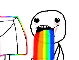 vomitando arcoiris