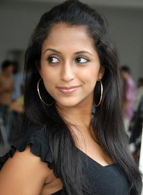 Aashika in Hot Black Dress hot photos