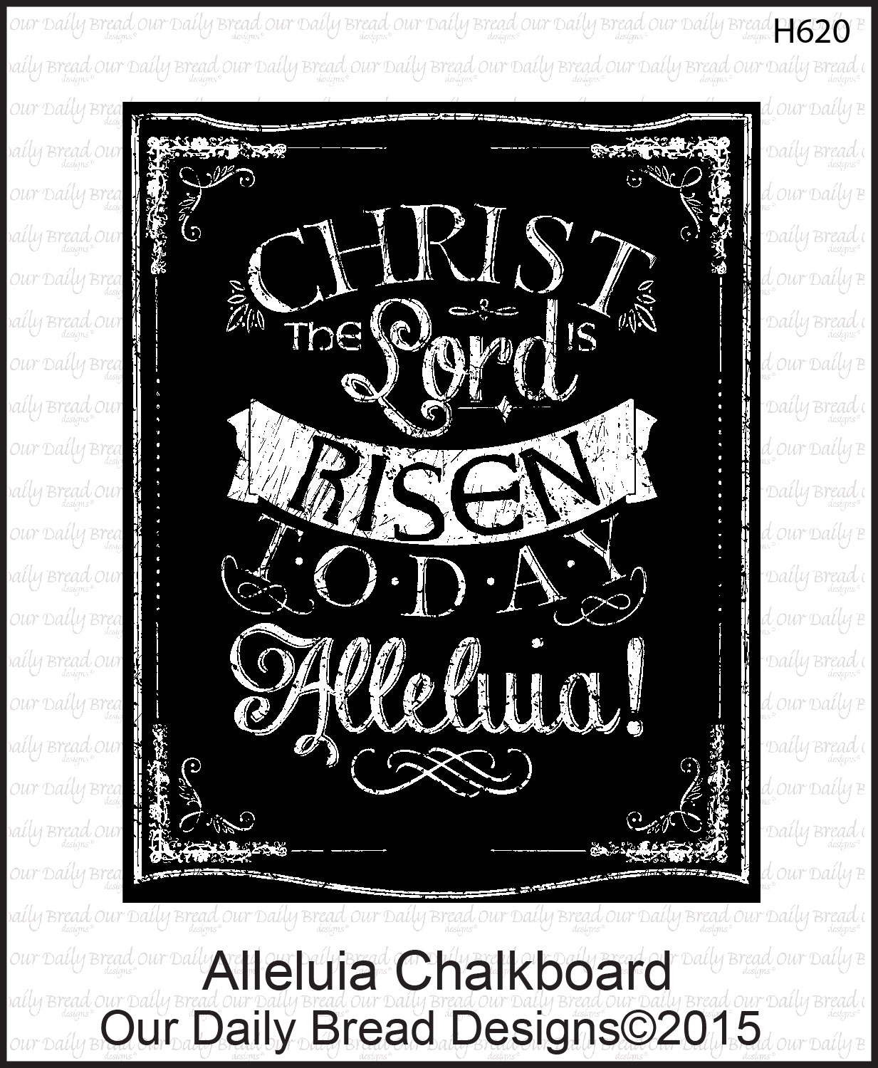 Stamps - Our Daily Bread Designs Alleluia Chalkboard