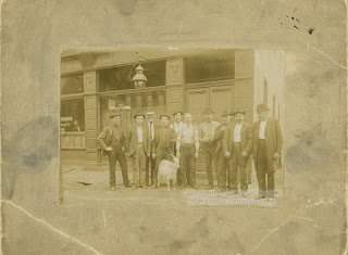South Side businesnessmen and a goat, 1900, Pittsburgh