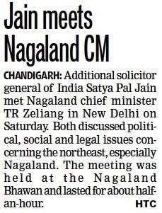 Jain meets Nagaland CM