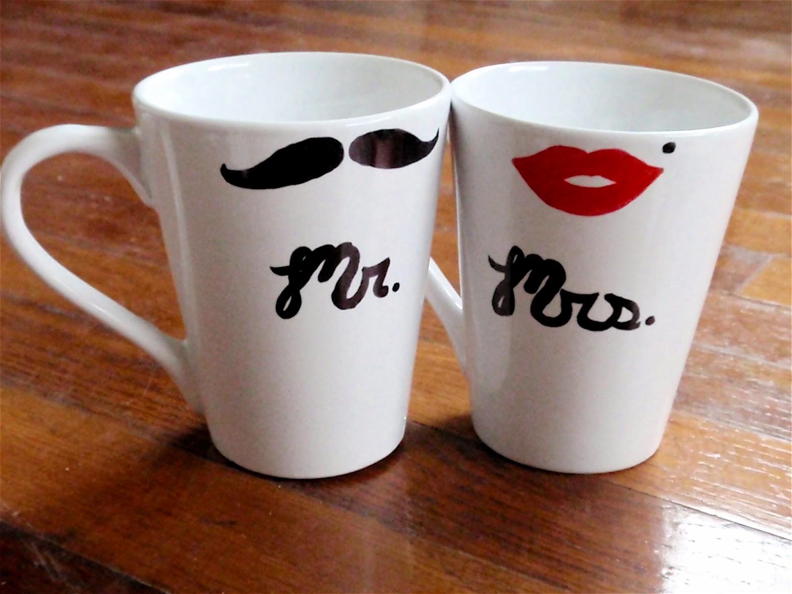 mr mrs coffee mugs craft sew love grow mr mrs. Black Bedroom Furniture Sets. Home Design Ideas
