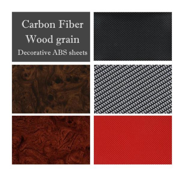 Woodgrain Carbon Fiber Brush Aluminum Sheets For Plastic