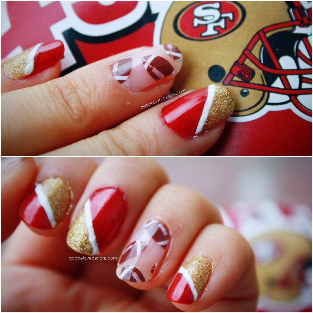 Agape Love Designs: Show Your Team Spirit with Jamberry Nails!