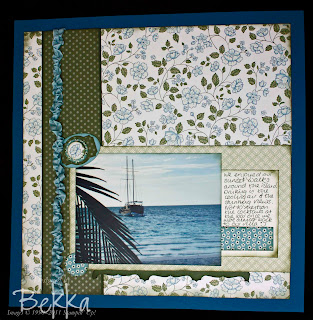 Summer Holiday Scrapbook Page