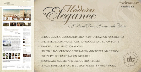Modern Elegance WordPress Theme Free Download by ThemeForest.