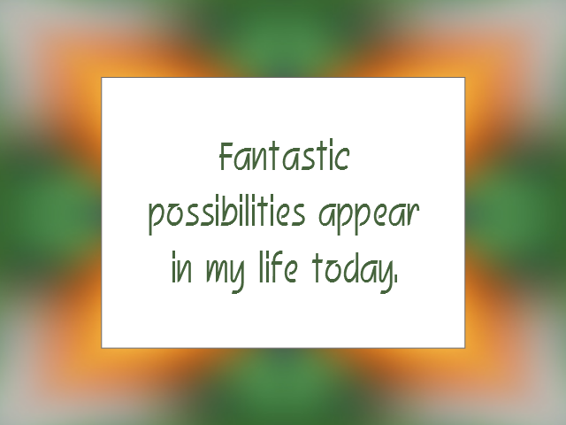 OPPORTUNITY affirmation