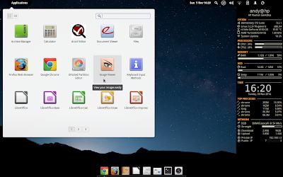 Conky Desktop (dark theme)