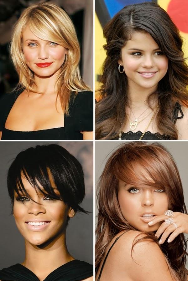 franja certa para cada tipo formato de rosto