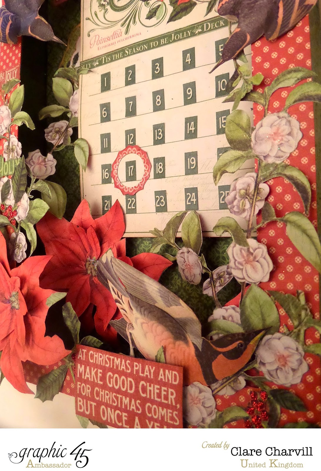 Time to Flourish Countdown to Christmas Advent Calendar  4 Clare Charvill Graphic 45