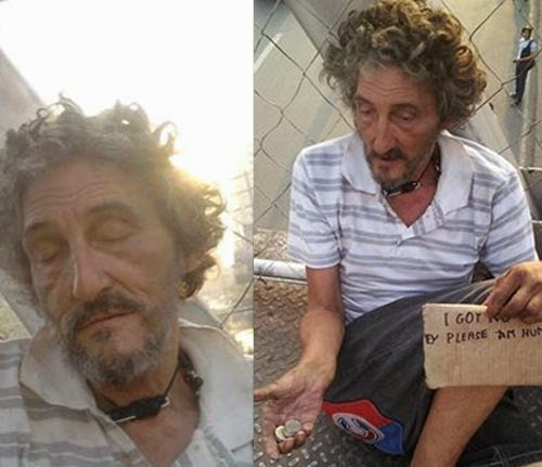 Italian Man begging in the Philippines