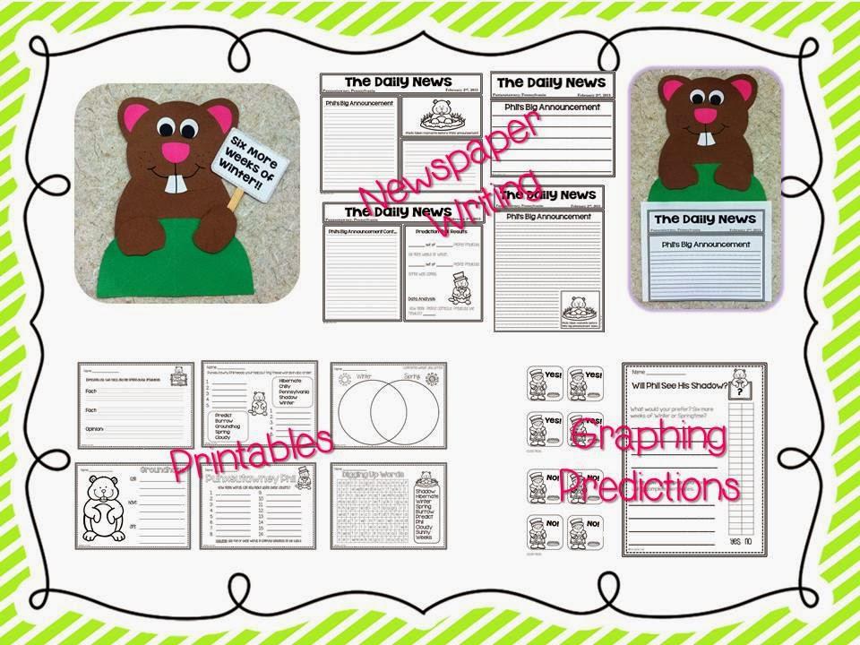 http://www.teacherspayteachers.com/Product/Groundhog-Day-Craft-and-Writing-487594