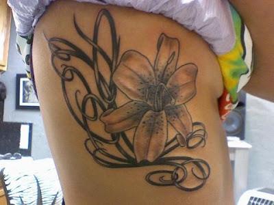 цветок тату