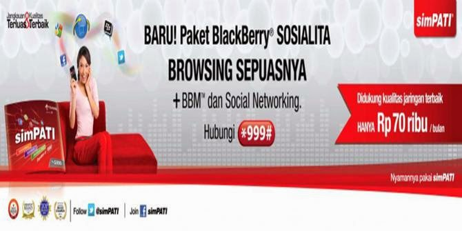 paket BB simpati, Paket BlackBerry New Sosialita Telkomsel, Paket Smartphone