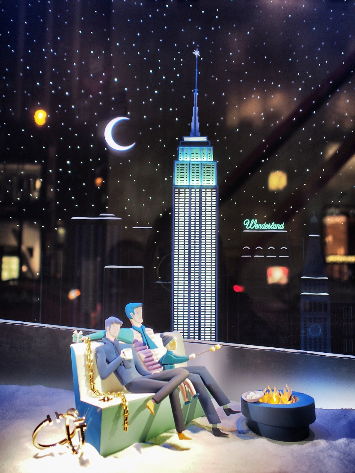 City S'Mores #citysmores #holidaywindows #5thavenuewindows #NYC  #holidays #besttimeoftheyear #nyc ©2014 Nancy Lundebjerg