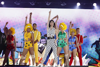 Katy Perry dancing on stage 2012