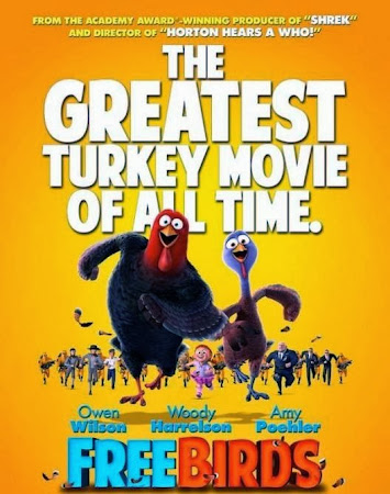 Poster Of Free Birds 2013 In Hindi Bluray 720P Free Download