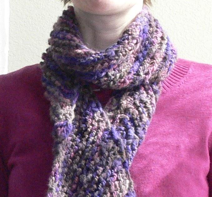 Knitting Pass Slipped Stitch Over : Pass Slipped Stitch Over: Quick Bias-Knit Scarf