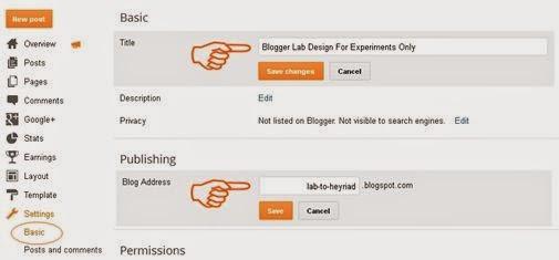 Mengganti Nama Judul Blog dan Alamat URL Blog