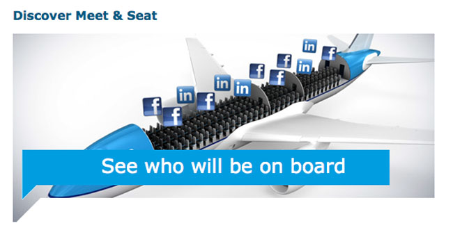 meet and seat klm flight