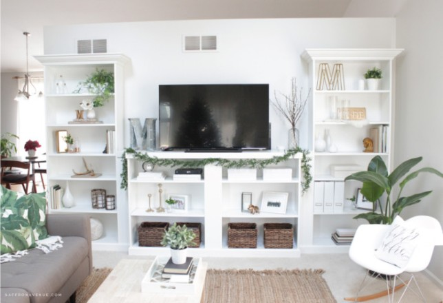 ikeahack diy librera billy como mueble de tv