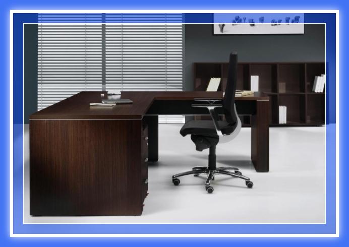 Escritorio pc de melamina madera dise os modernos web for Planos de escritorios