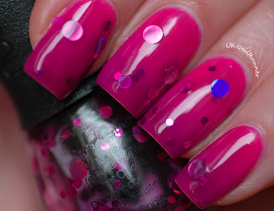 Nail Lacquer UK Grape Juice over gradient with Illamasqua bright pinks
