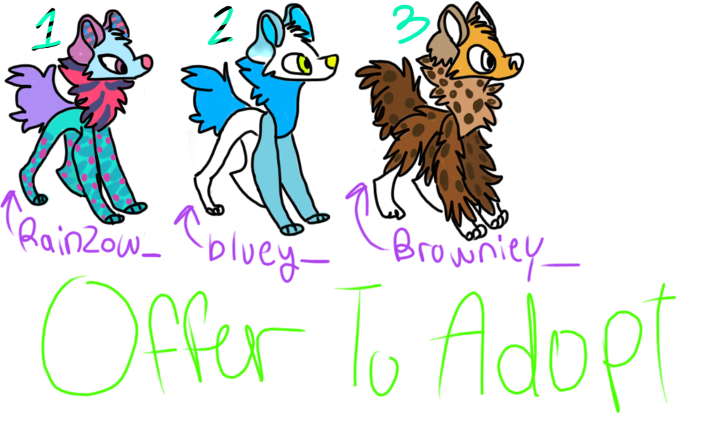 Offer to adopt (dawgs/wolfs)