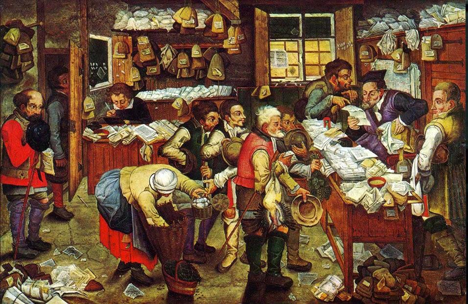 Pago de impuestos en la época medieval