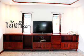 โต๊ะวางทีวี ไม้มะค่า งานสั่งทำ จาก โรงงานเฟอร์นิเจอร์ ไม้แท้.com