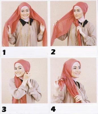 Variasi Cara Memakai Jilbab Segitiga 2
