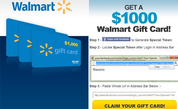 Walmart Scam Landind Page