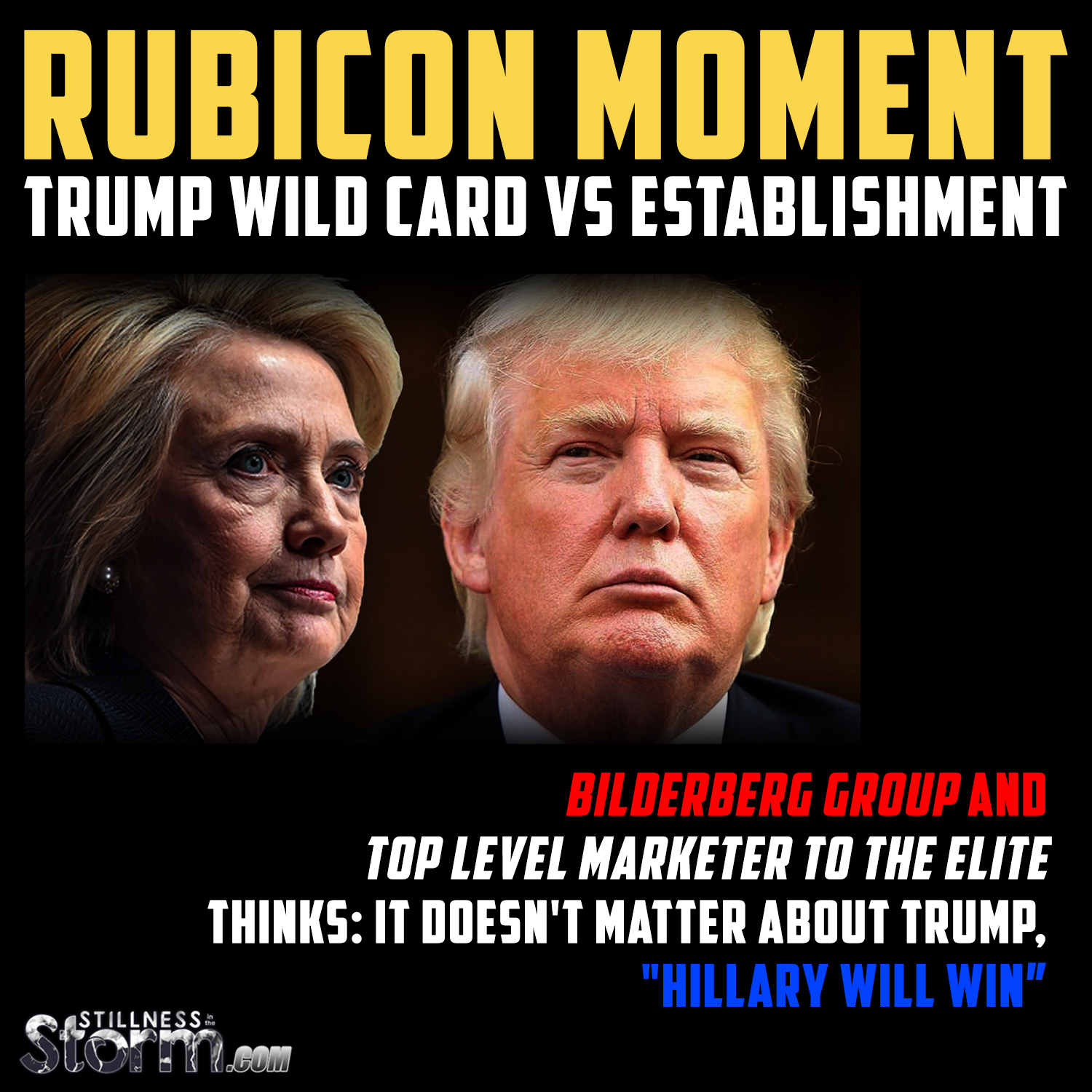 Rubicon moment trump wild card vs establishment for Farcical related forms
