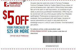 famous footwear printable coupons